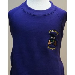 St. Lukes Purple Unisex Crew Neck Sweatshirt