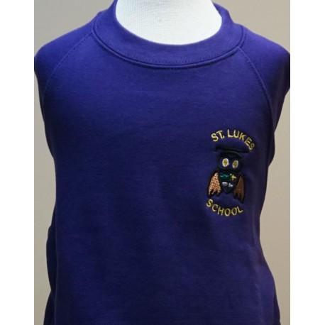 St. Lukes Purple Unisex Crew Neck Sweatshirt