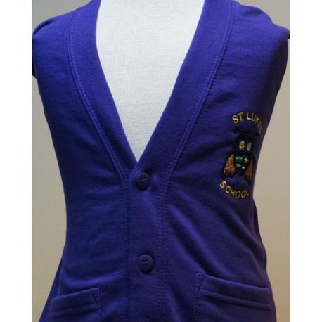 St. Lukes Purple Unisex School Cardigan